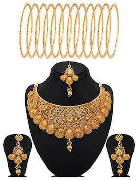 Sukkhi Gold Alloy Bridal Set For Women