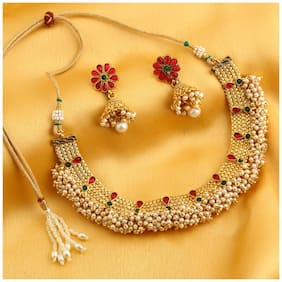 Sukkhi Gold Necklace Set For Women