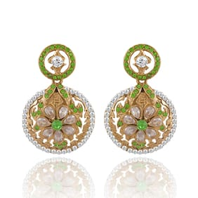 Sukkhi Graceful Gold Plated AD Earring For Women (Pack Of 5)
