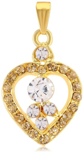 Sukkhi Heart Shaped Gold Plated Pendant for women