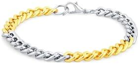 Sukkhi Incredible Gold & Rhodium Plated Bracelet For Men