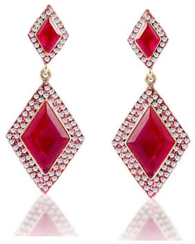 Sukkhi Intricately Crafted Gold Plated AD Earring For Women