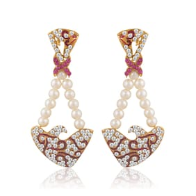 Sukkhi Lavish Gold Plated Pearl Earring For Women (Pack Of 5)