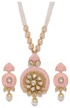 Sukkhi Lobster Clasp Kundan Necklace For Women
