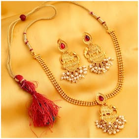 Sukkhi Marvellous Bahubali Inspired Gold Plated Necklace Set for women