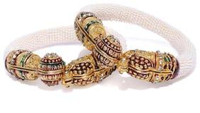 Sukkhi Modern Gold Plated Pearl Kada Set for Women