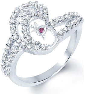 Sukkhi Pretty Rodium plated CZ Studded Ring For Women(189R740)