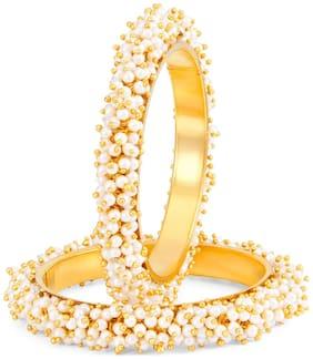 Sukkhi Ravishing Gold Plated Pear Bangle Set for Women