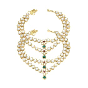 Sukkhi Ritzy Gold Plated Anklet for women