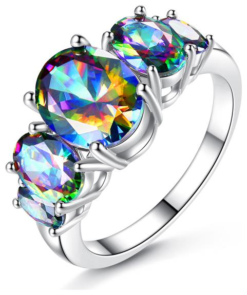Sukkhi Shimmering Crystal Stone Rhodium Plated Ring for Women