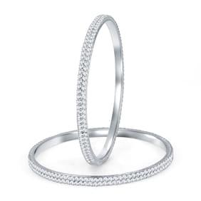 Sukkhi Silver Bangles (Pack Of 10)