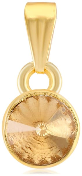 Sukkhi Solitaire AD Gold Plated Pendant for Women