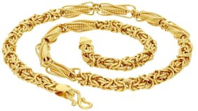 Sukkhi Sparkling Gold Plated Wedding Jewellery Byzantine Chain for Men
