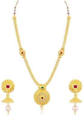 Sukkhi Stunning Gold Plated Necklace Set for women + Free Earphones With Mic Worth Rs. 799/-