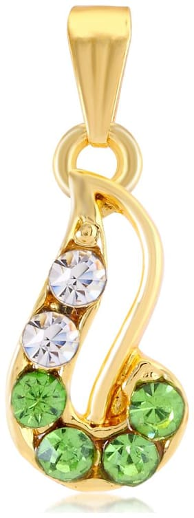 Sukkhi Sublime AD Gold Plated Pendant for Women