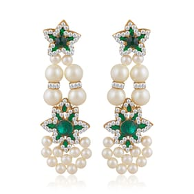 Sukkhi Trendy Gold Plated Pearl Earring For Women (Pack Of 5)