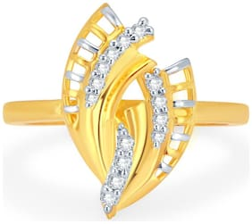 Sukkhi Delightly Gold and Rhodium Plated CZ Ring for Women