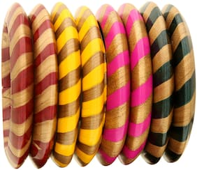 Sukriti Rajasthani Stylish Party Casual Wear Multicolor Lac Bangles Combo Jewelry for Girls & Women - Set of 8
