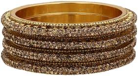 Sukriti Traditional Bangadi Style Brass Bangles For Girls & Women  Set Of 4