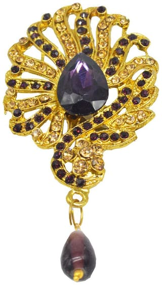 Sullery Charming Oval Shape flower Design Swarovski Crystal Lapel Pin