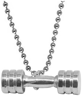 Sullery Gym jewelry Weightlifttiing Dumbell Sport Fitness Locket With Chain