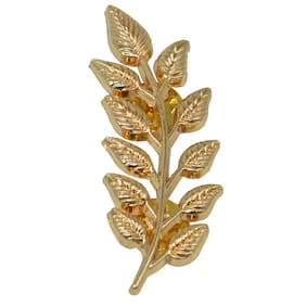 Sullery Stylish Simply Sober Leaf Wedding And Partywear Lapel Pin