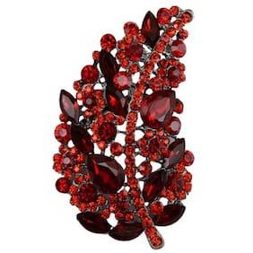 Taj Pearl Alloy Designer Crystals Brooch