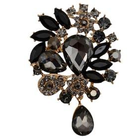 Taj Pearl Designer Crystals Brooch