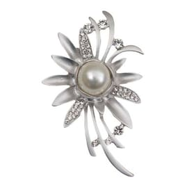 Taj Pearl Designer Brooch