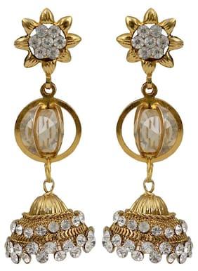 Taj Pearl Traditional Designer earrings jhumkis