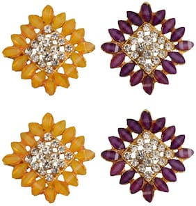 Taj Pearl Two pairs designer Stud earrings