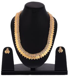 Zeneme Temple Coin Design Long Haram Necklace