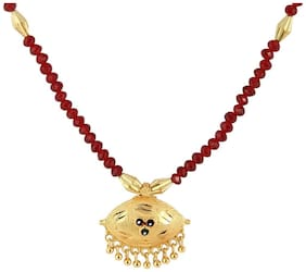The Creators Maroon Gold Plated Mangalsutra for Women