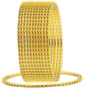 The Jewelbox Wedding 22k Antique Gold Plated Chuda Kada Bangle Set Of 12 For Women