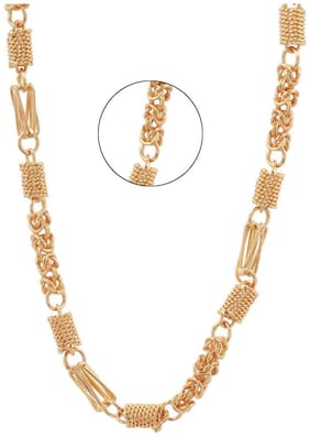 Three Shades Gold Plated Link Chain For Men