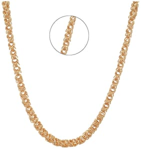 Three Shades Heavy Gold Plated Chain For Men