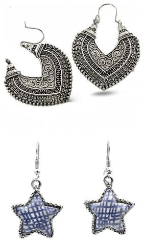 Three Shades Trendy & Designer Earring Combo for Girls Women