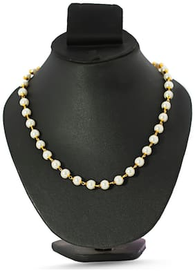 Three Shades Natural Cultured Fresh Water Pearl & Colourful Quartz Beads Mala Necklace For Women Pearl Stone Necklace Chain