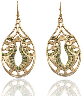 Touchstone Golden Metal Earings