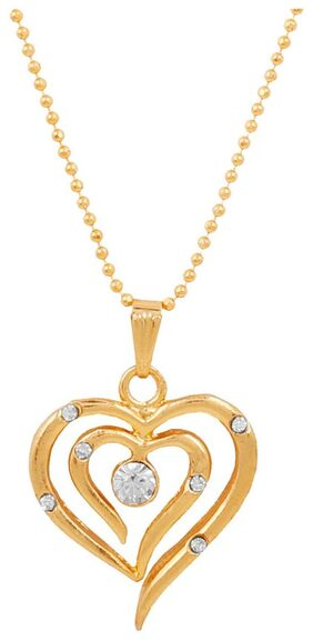Touchstone Gold Plated Heart Pendant