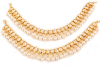 2ce5a8b7d Touchstone Indian Bollywood Mughal Era Inspired Stylish Traditional Kundan  Look Faux Pearls Hangings Designer Jewelry Wedding