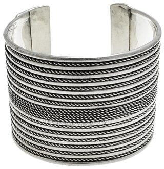 Buy Traditional Oxidised Silver Hand Crafted Cuff Bracelet Ethnic