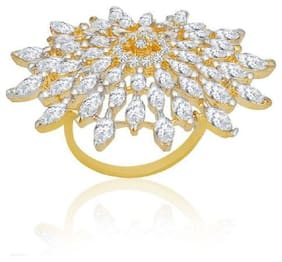 Traditional Big Size Party Wear Ring For Women (Adjustable)