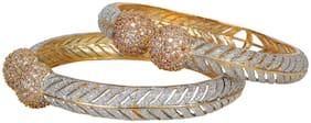 Urbanela American Diamond fine quality Gold plated Bangles Set of 2 : URBAN22