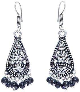 Urbanela Antique Designer Jhumki Earrings Oxidised Silver Plated Fashion Jewellery  ADEC106