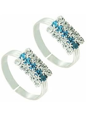 Urbanela Designer Silver Plated Toe Ring fashion Jewellery (Pack of 1 pair)#TR22