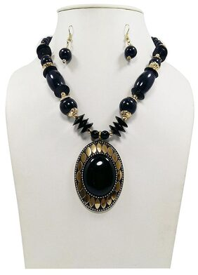 Urbanela Funky Beads Necklece for Girls & Women : Fashion Jewellery ADLBN01-BLACK