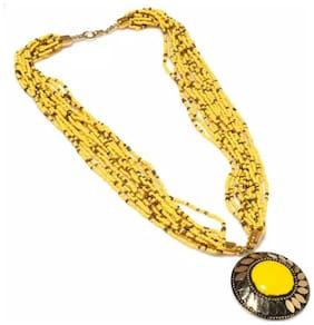 Urbanela Funky Beads Necklece for Girls & Women : Fashion Jewellery ADLBN02-YELLOW