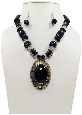 Urbanela Funky Beads Necklece for Girls & Women : Fashion Jewellery ADLBN03-BLACK
