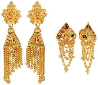 Urbanela Gold Plated Earrings Combo with guaranteed polish Set of 2 : ADU-EG32-EG25